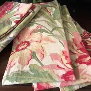 NEW! Pottery Barn Marla Floral Napkins Set of 6